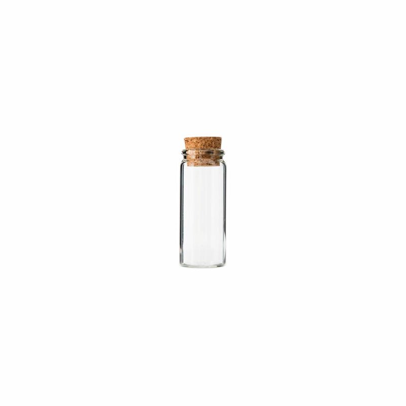 REGENT GLASS BOTTLES WITH CORK LIDS 4PCS (47MM:DX120MM)
