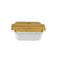APPOLIA LIGHT GREY SQUARE COOK & STOCK WITH BAMBOO BOARD, 1.8LT (255X217X76MM)