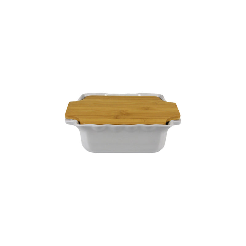 APPOLIA GREY SQUARE COOK & STOCK WITH BAMBOO BOARD (2.7L) (300X253X86MM)