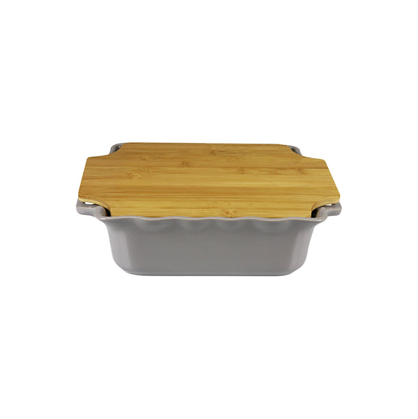 APPOLIA DARK GREY SQUARE COOK & STOCK WITH BAMBOO BOARD (4L) (343X293X91MM)