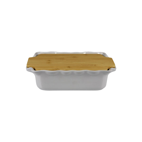 APPOLIA GREY RECT. COOK & STOCK WITH BAMBOO BOARD (2.7L) (335X204X89MM)