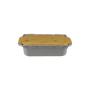 APPOLIA DARK GREY RECT. COOK & STOCK WITH BAMBOO BOARD (3.7L) (373X232X92MM)