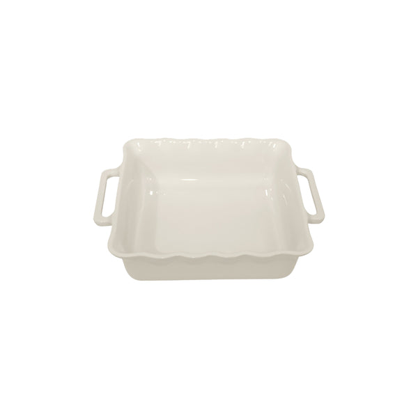 APPOLIA OFF WHITE SQUARE BAKING DISH, 2.2LT (275X233X68MM)