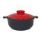 APPOLIA ROUND INDUCTION CASSEROLE WITH CHERRY LID, 3.1LT