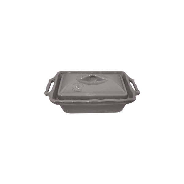 APPOLIA SILVER GREY TERRINE WITH LID, 400ML (205X117X84MM)
