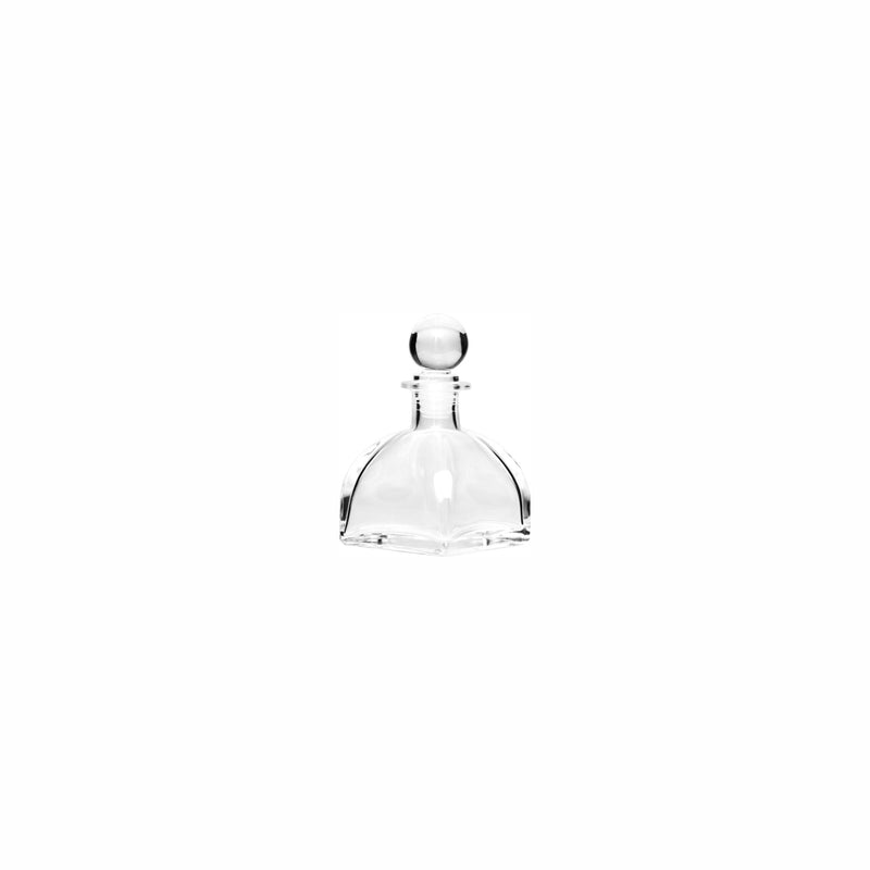REGENT GLASS PERFUME BOTTLE TAPERED WITH PLASTIC BALL STOPPER (100ML)