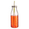 REGENT GLASS DRINKING BOTTLE WITH LID & PLASTIC STRAW (450ML) (68MM:DX192MM:H)