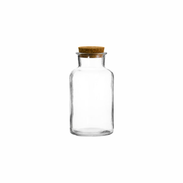 REGENT GLASS BOTTLE WITH CORK LID (550ML) (83MM:DX175MM:H)