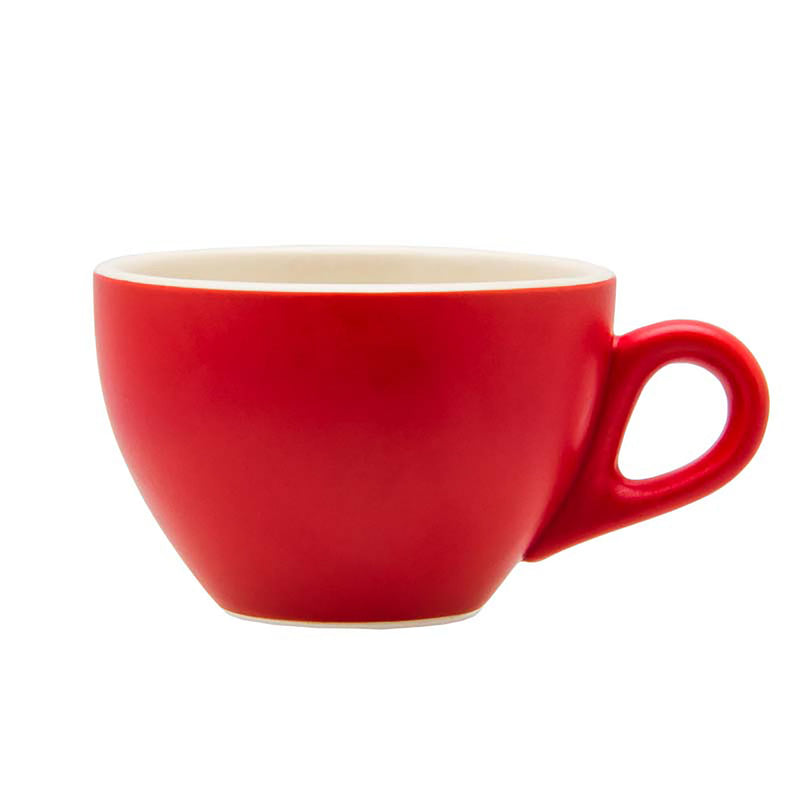 REGENT STONEWARE CAPPUCCINO CUP MATT RED (280ML) 6 PACK