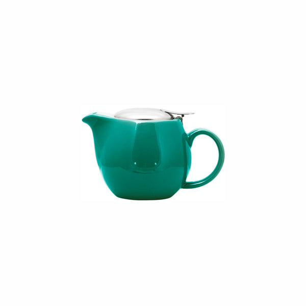REGENT STONEWARE TEAPOT WITH S/STEEL LID & INFUSER TEAL GLOSS FINISH (400ML)