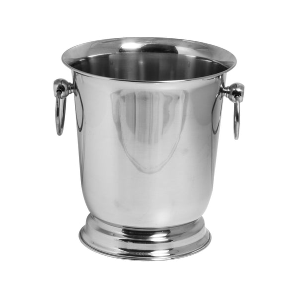 BAR BUTLER FOOTED WINE BUCKET WITH HANDLES S/STEEL (4L) (190MM:DX225MM:H)