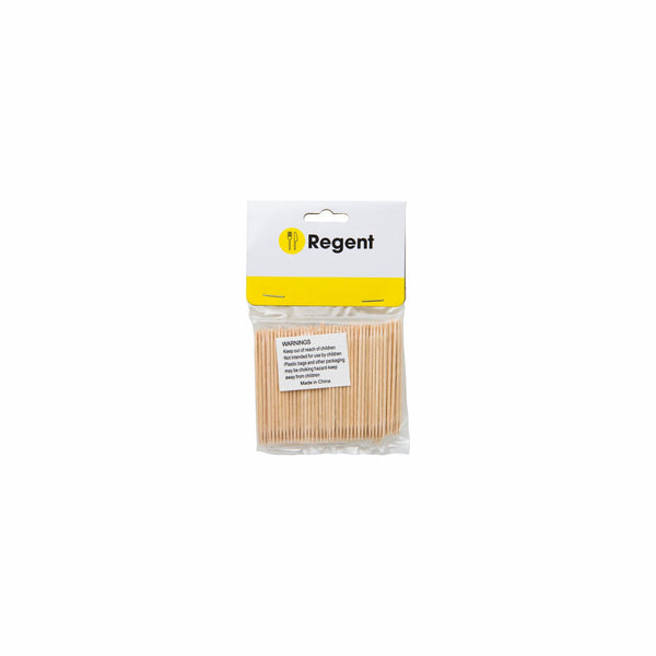 REGENT KITCHEN TOOTHPICKS WOODEN UNWRAPPED 200PCS, (65X2.2MM DIA)