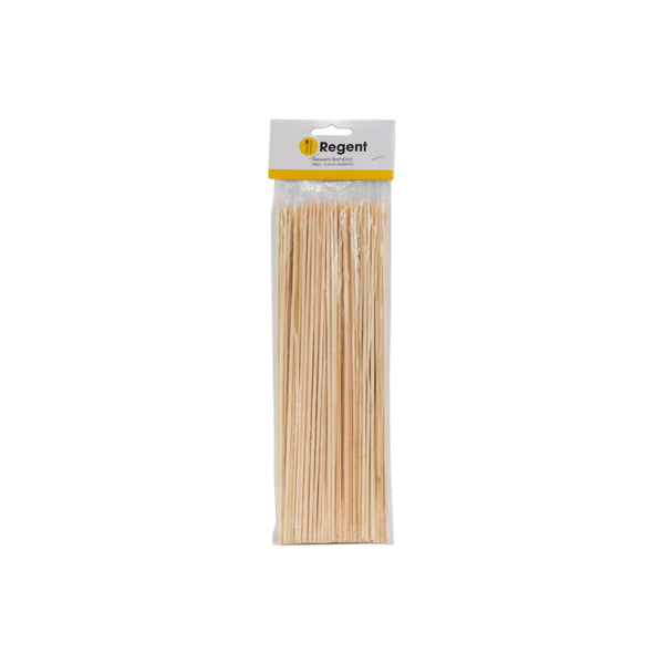 REGENT KITCHEN SKEWERS BAMBOO 100PC, (250MMX2.5MM:DX90MM)