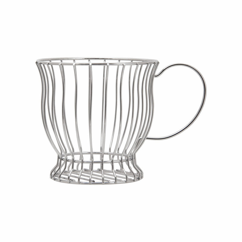 REGENT CHROME MUG SHAPED WIRE COFFEE POD HOLDER (130:DX220X153MM)