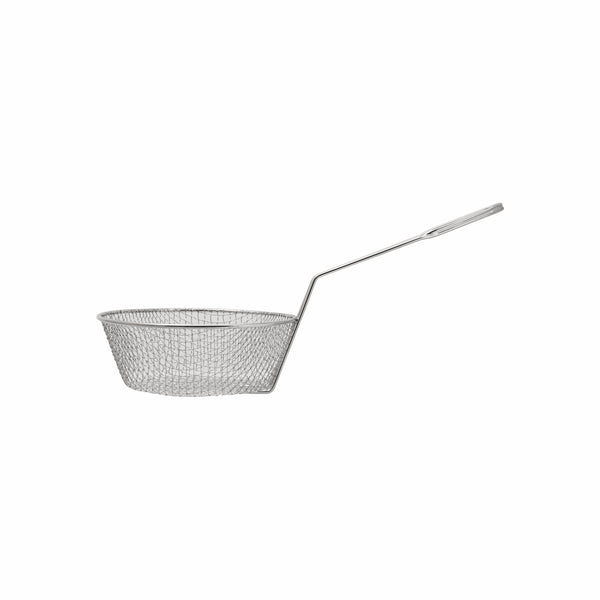 REGENT NICKEL PLATED DEEP FRYER WIRE BASKET W/HANDLE (203MM:DX120X435MM)