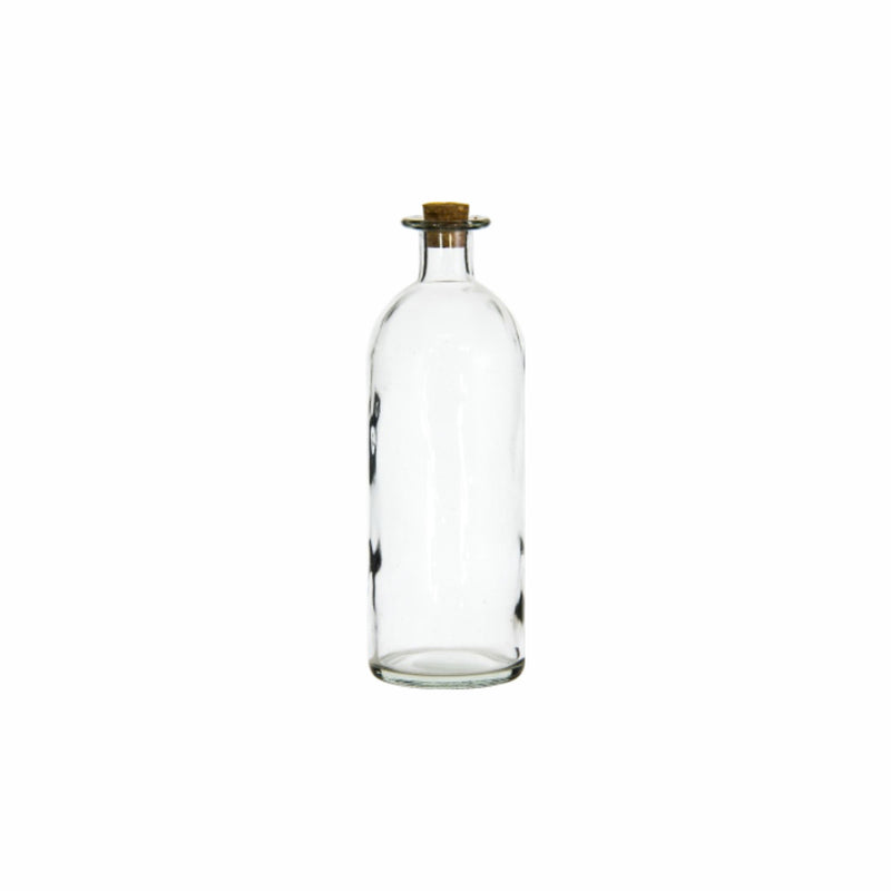REGENT GLASS BOTTLE WITH CORK LID (500ML) (70MM:DX210MM:H)