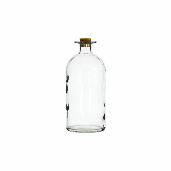 REGENT GLASS BOTTLE WITH CORK LID (1.3L) (100MM:DX200MM:H)