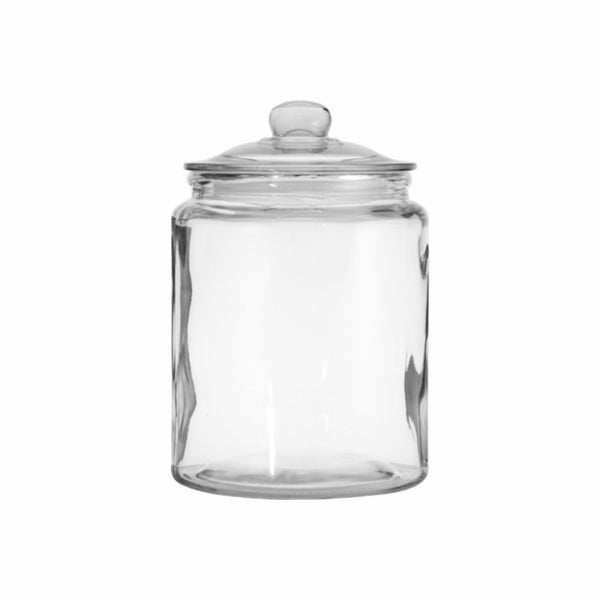 REGENT ROUND CANISTER JAR WITH GLASS LID (3.5L) (150MM:DX210MM:H)