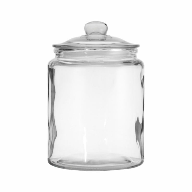 REGENT ROUND CANISTER JAR WITH GLASS LID (4.8L) (180MM:DX250MM:H)
