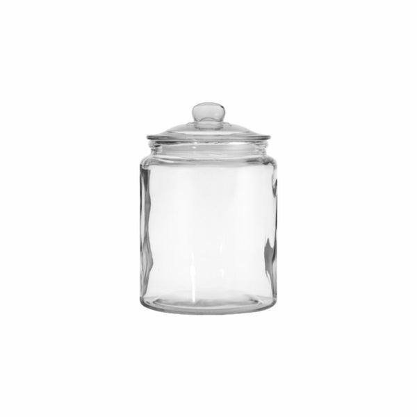 REGENT ROUND CANISTER JAR WITH GLASS LID (1L) (110MM:DX150MM:H)