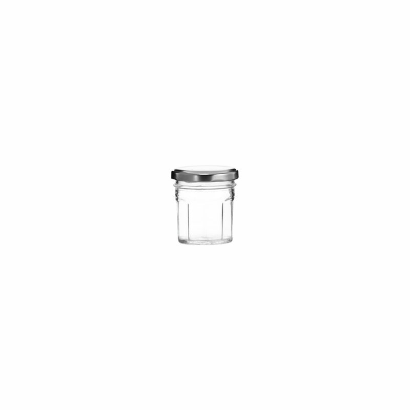 REGENT OCTAGONAL JAR WITH SILVER LID, 12 PACK 100ML (56MM:DX65MM)