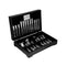 TABLEKRAFT ELITE 18/10 CUTLERY 96 PIECE SET IN WOODEN CANTEEN