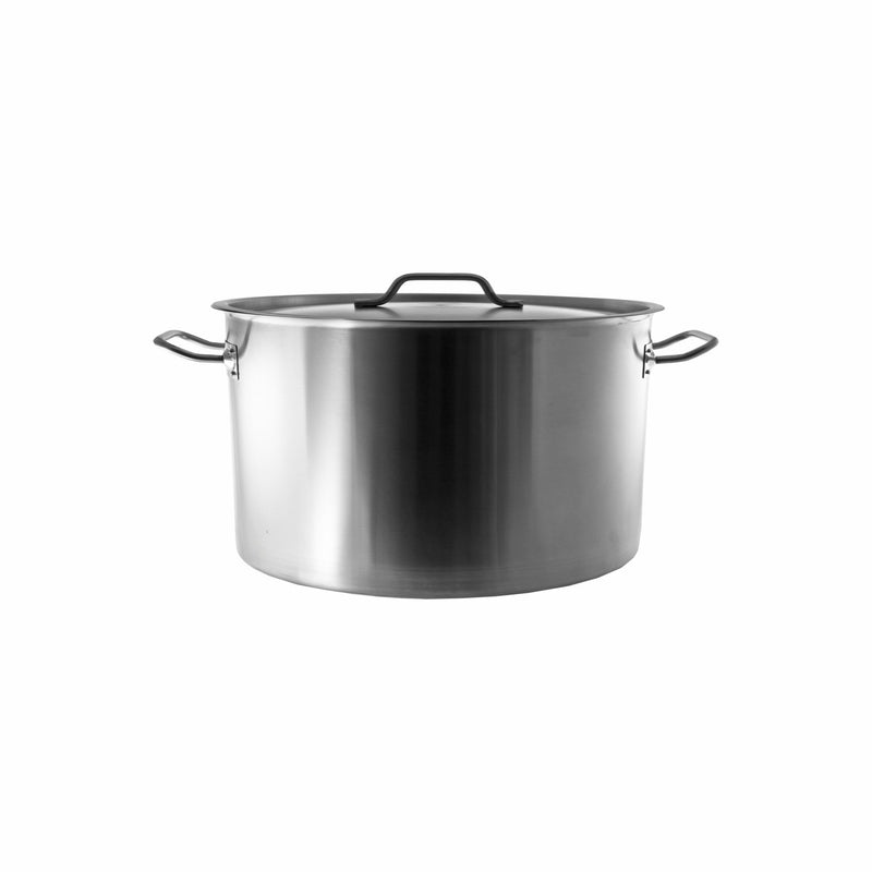 REGENT COOKWARE CASSEROLE WITH RIVETED HANDLES S/STEEL 12.7L (300MM:DX170MM)