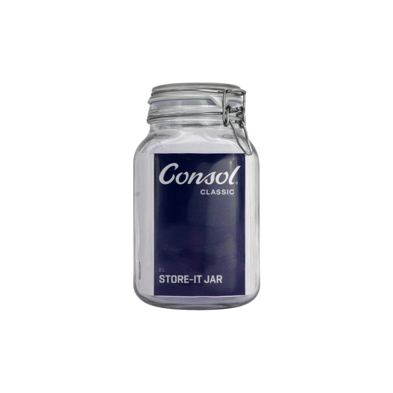 CONSOL STORE-IT JAR WITH CLIP TOP LID, 2LT (210X128X128MM