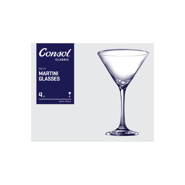 CONSOL SAINT-REMY MARTINI GLASS, 4 PACK (250ML)