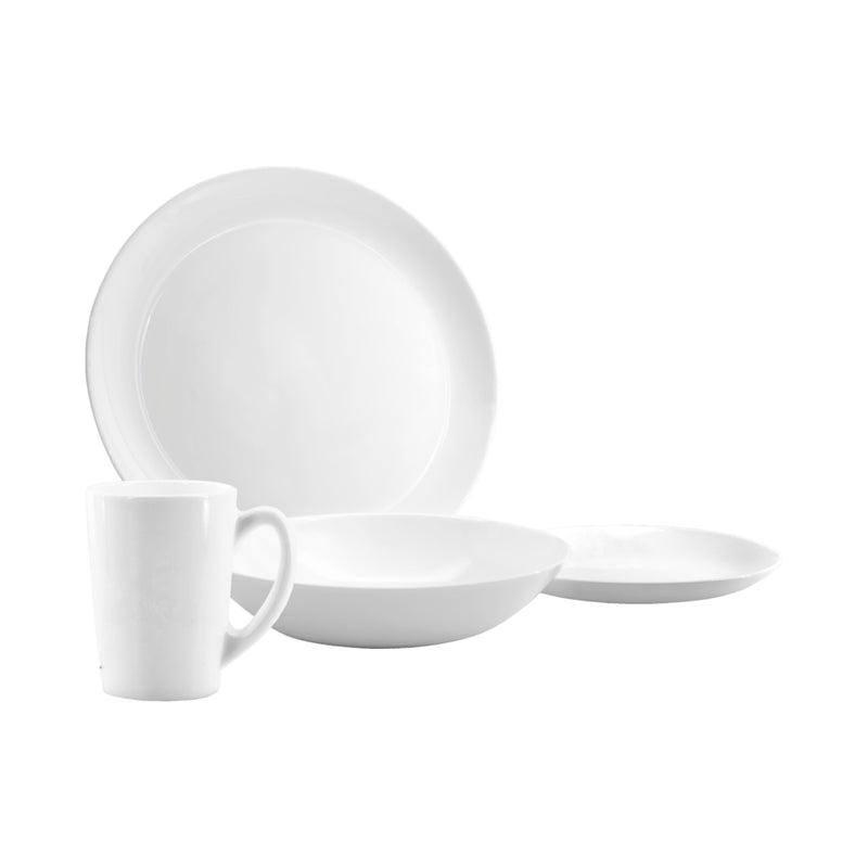 CONSOL OPAL DINNERWARE SET WITH MUGS, 16 PIECES