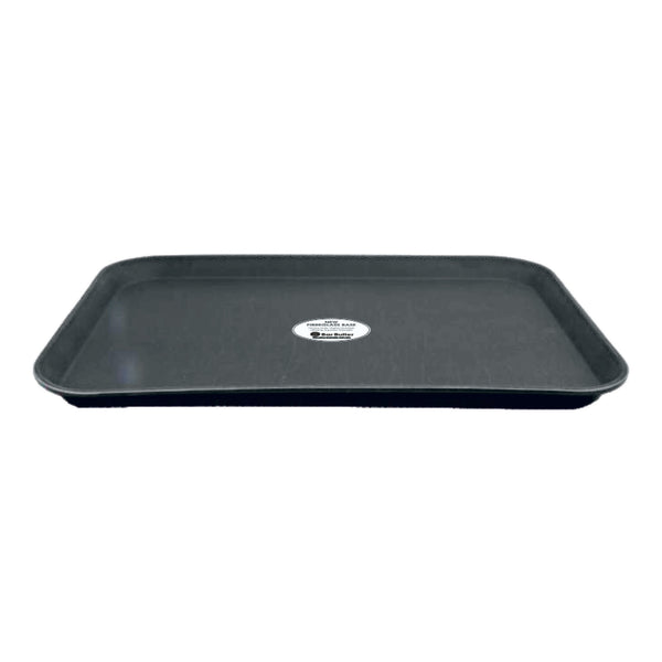 BAR BUTLER RECT. TRAY NON-SLIP FIBREGLASS BLACK (410X560MM)