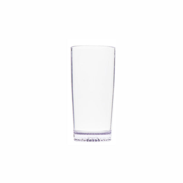 CLEAR PLASTIC WILLY TUMBLERS, 6 PACK (385ML)