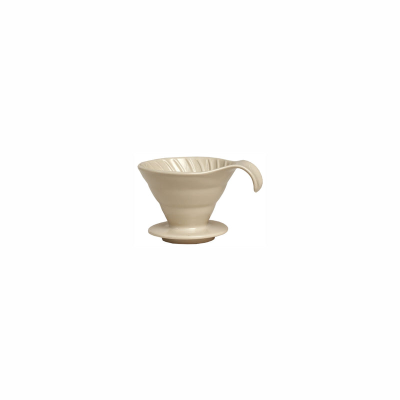 REGENT COFFEE CERAMIC WHITE POUR OVER FILTER DRIPPER CONE FOR 1-2 CUPS - FITS ONTO A CUP/MUG