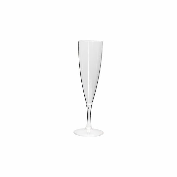 CLEAR PLASTIC CHAMPAGNE FLUTE, 6 PACK (190ML)