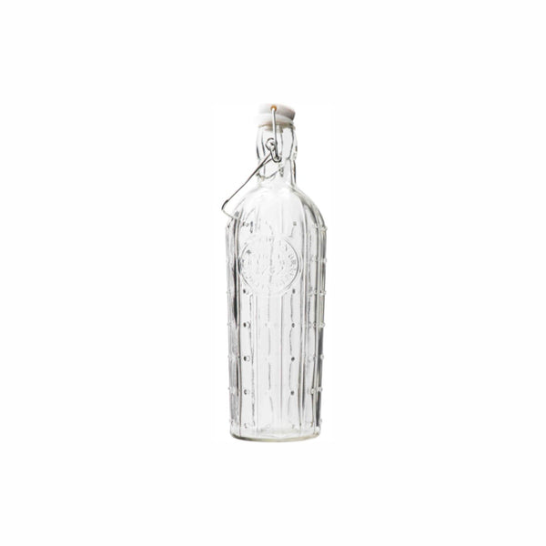REGENT GLASS CACTUS BOTTLE WITH CLIP-TOP LID 1LT (90MM:DX345MM)
