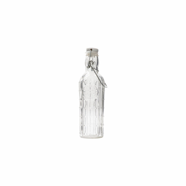 REGENT CACTUS GLASS BOTTLE WITH CLIP-TOP LID (500ML) (75MM:DX230MM)
