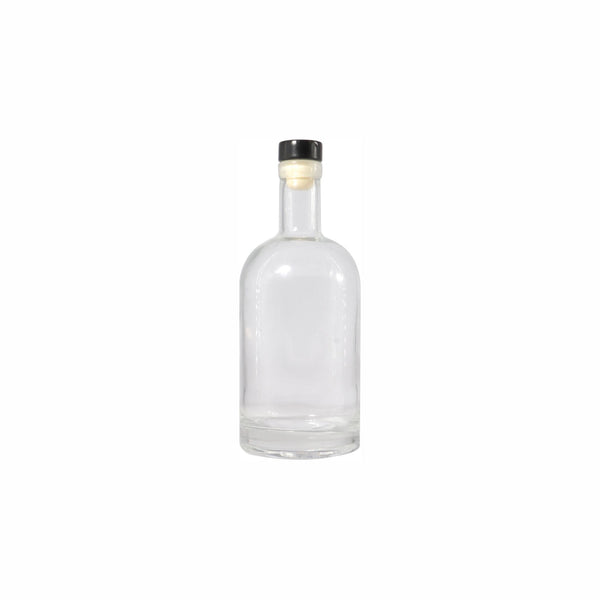REGENT GIN BOTTLE WITH BLACK COLOUR STOPPER 500ML (85MM:DX205MM)