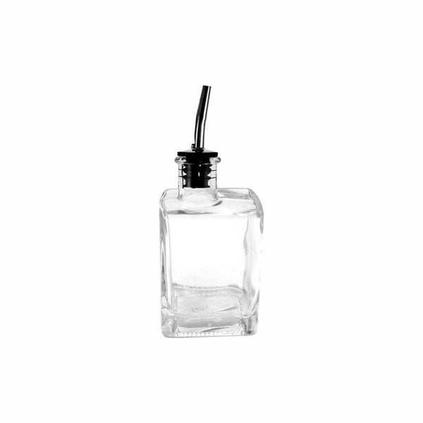 REGENT SQUARE GLASS BOTTLE WITH POURER 200ML (72X50X125MM)