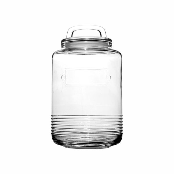 REGENT GLASS EMBOSSED COOKIE JAR, 6.5LT (330X195MM DIA)