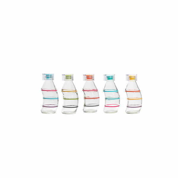 CONSOL CURVY BOTTLE IN ASSORTED COLOURS WITH CLEAR/SILICONE LID (350ML)