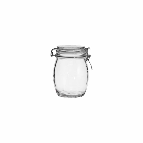 REGENT ROUND HERMETIC CANISTER WITH CLIP & SEAL (500ML) (100MM:DX140MM:H)
