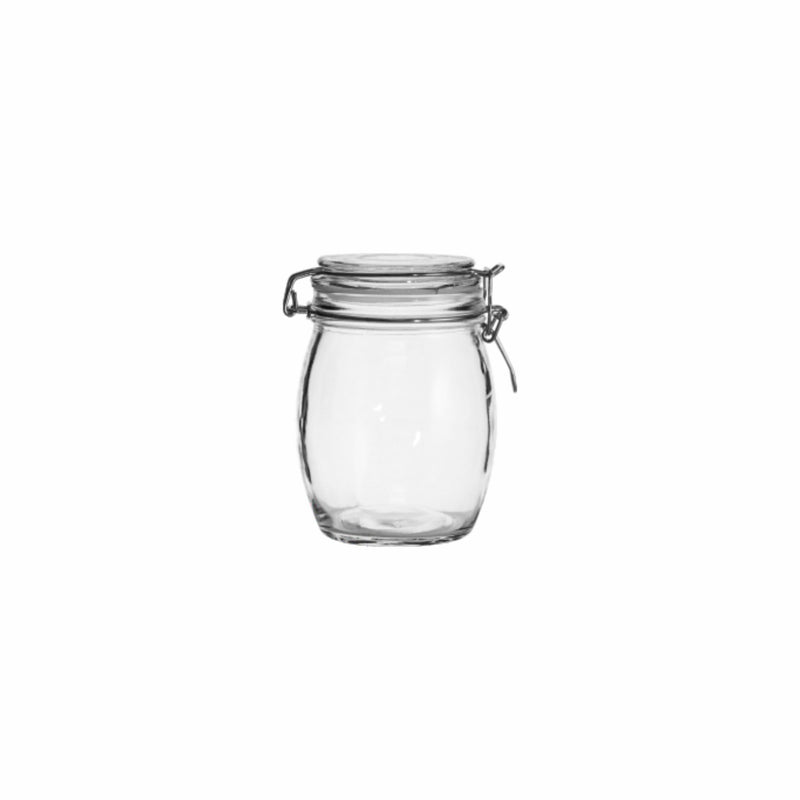 REGENT ROUND HERMETIC CANISTER WITH CLIP & SEAL, 500ML (140X100MM DIA)