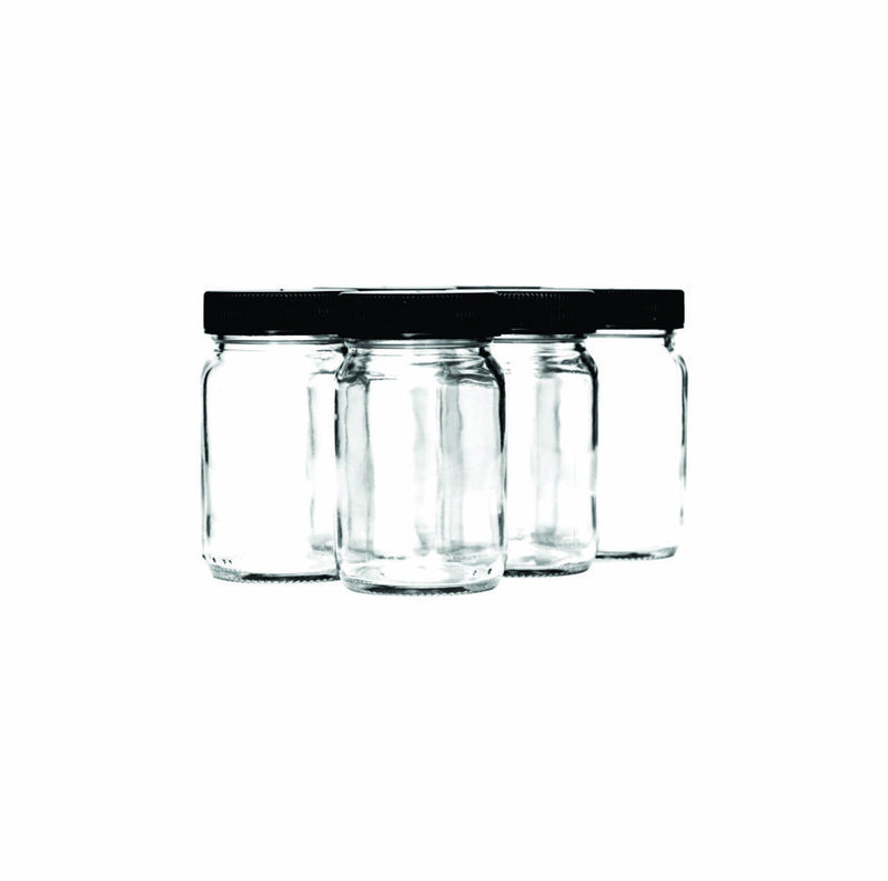 CONSOL JAR WITH BLACK LID 6 PACK, (125ML)