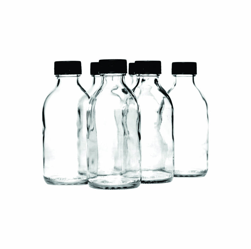CONSOL PHARMACEUTICAL BOTTLE WITH BLACK LID 6 PACK, (200ML)