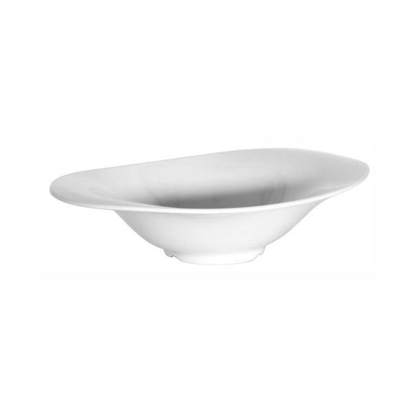 REGENT MELAMINE DEEP OVAL SERVING BOWL WHITE, (355X235X80MM)