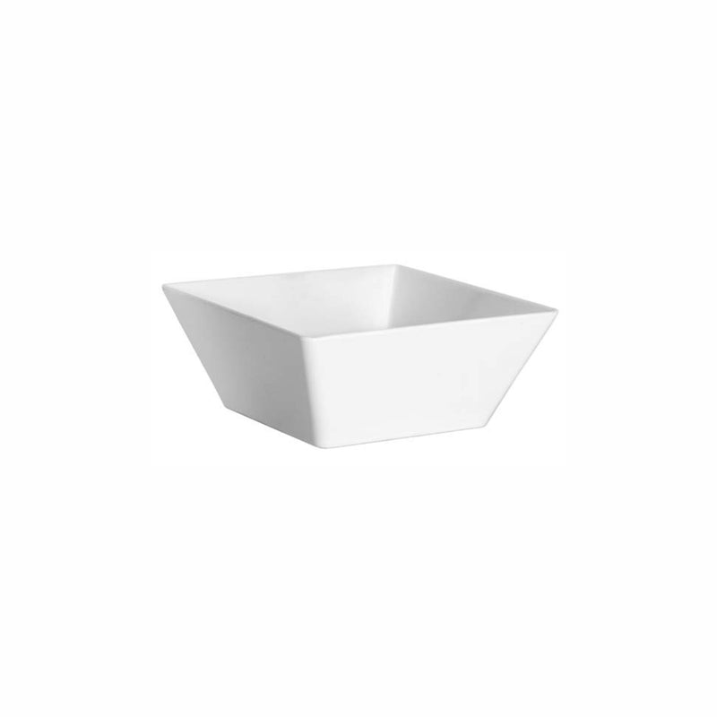 REGENT MELAMINE DEEP BOWL TAPERED SQUARE WHITE (298X298X115)