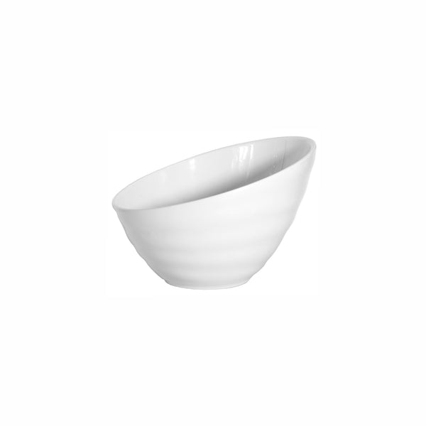 REGENT MELAMINE SERVING BOWL ROUND OBLIQUE WAVY WHITE, (267MM:DX105/180MM)