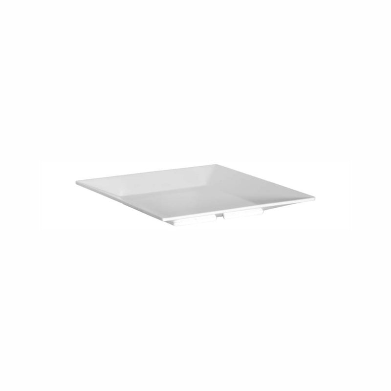 REGENT MELAMINE PLATTER SQUARE WITH TAPERED RIM WHITE (254X254X30MM)