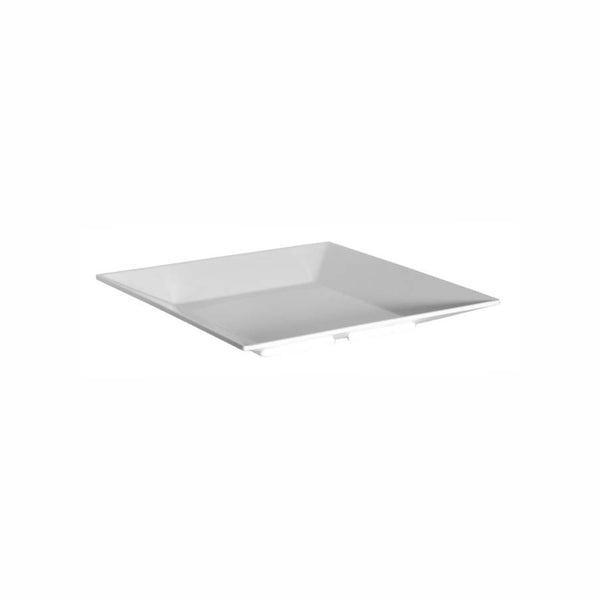 REGENT MELAMINE PLATTER SQUARE WITH TAPERED RIM WHITE, (300X300X35MM)