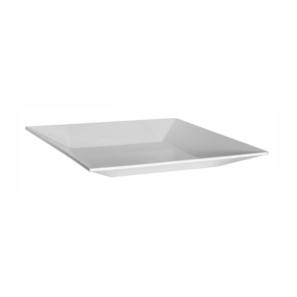 REGENT MELAMINE PLATTER SQUARE WITH TAPERED RIM WHITE, (405X405X50MM)